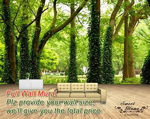Green Forest Nature Landscape Wall Paper Wall Print Decal ...