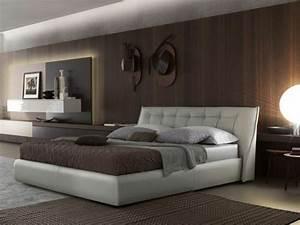 Tete De Lit Marron : choisissez un lit en cuir pour bien meubler la chambre coucher ~ Preciouscoupons.com Idées de Décoration