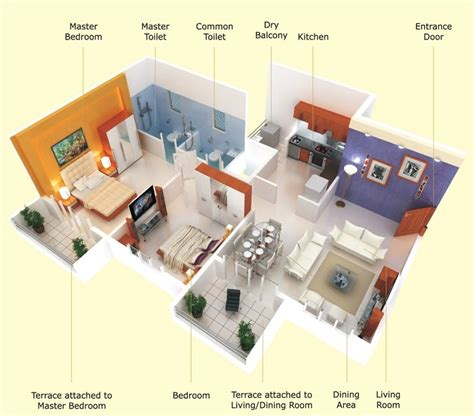 25 Two Bedroom Houseapartment Floor Plans by 25 Two Bedroom House Apartment Floor Plans Amazing