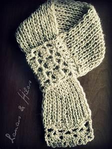 Crochet En S : lanas hilos crossed short scarf ~ Nature-et-papiers.com Idées de Décoration