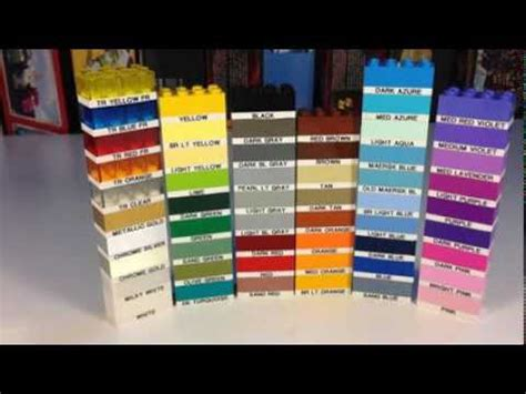 lego colors lego element daily part 3001 2x4 brick in 54 colors