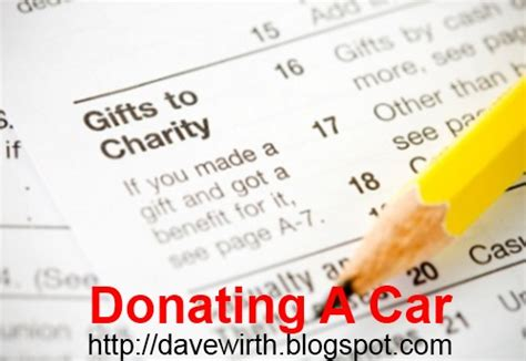 Give Car To Charity Tax Deduction - donating a car