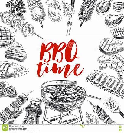 Grill Barbecue Hand Illustration Vector Drawn Graphic