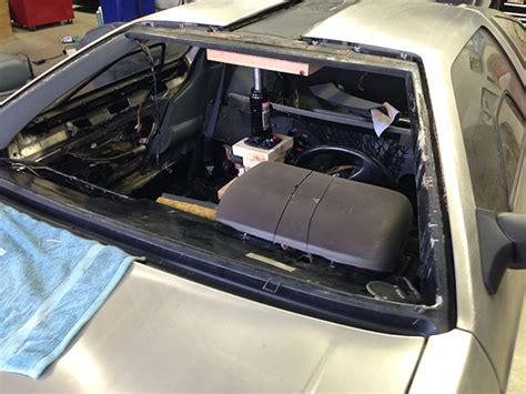 delorean windshield trim pillar interior warped typical pieces