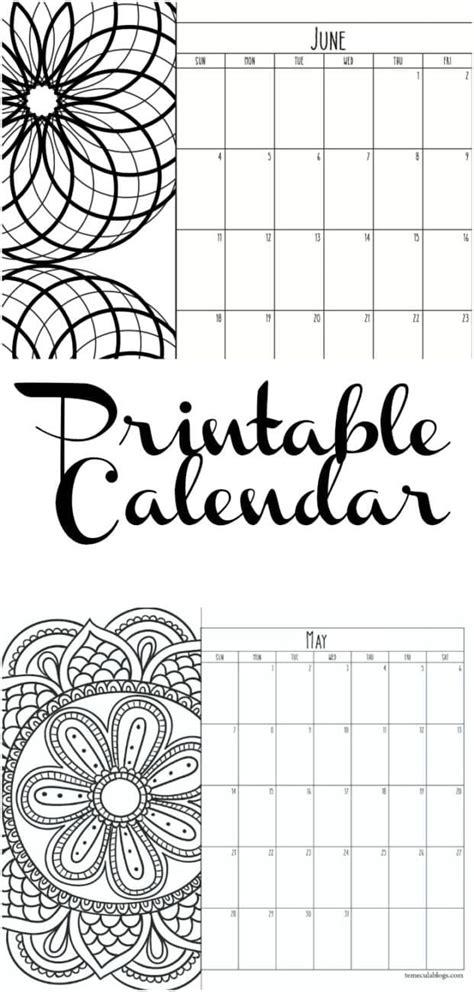 printable monthly calendar   year