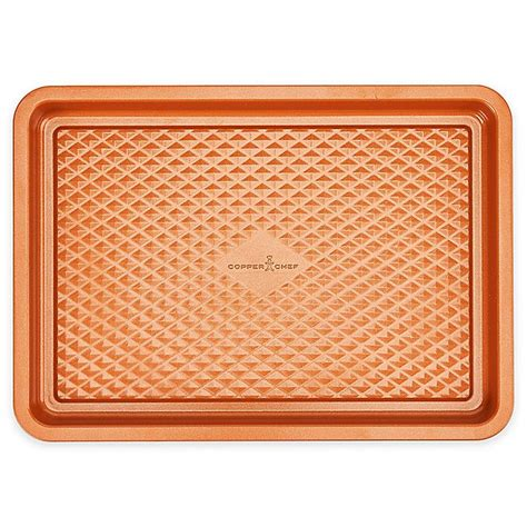 copper chef diamond bakeware cookie sheet nonstick inch sheets collection baking bed tools bath