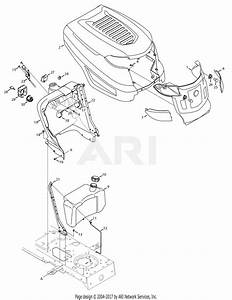 Troy Bilt 13av60kg011 Bronco  2008  Parts Diagram For Hood