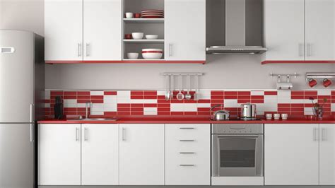decoracion de cocinas en color rojo menos es mas