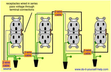wiring diagram receptacles in series electrical diy