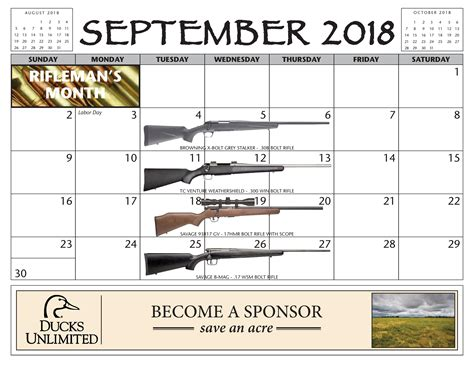2018 Maryland Gun Calendar Giveaway