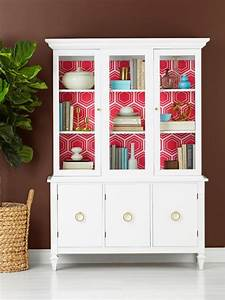 How To Wallpaper The Inside Of A China Cabinet