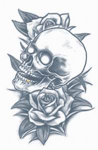 Prison - Skull and Roses - Temporary Tattoo - Tinsley ...