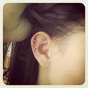 Triple helix piercing | Piercings | Pinterest