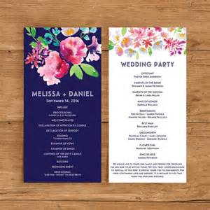 papers and ink top wedding program templates everafterguide