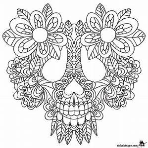 Tete De Mort Mexicaine Dessin : coloriage abstrait une t te de mort lulu la taupe jeux ~ Melissatoandfro.com Idées de Décoration