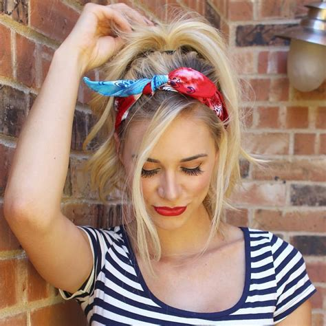 how to style hair with a bandana 20 gorgeous bandana hairstyles for cool 7071