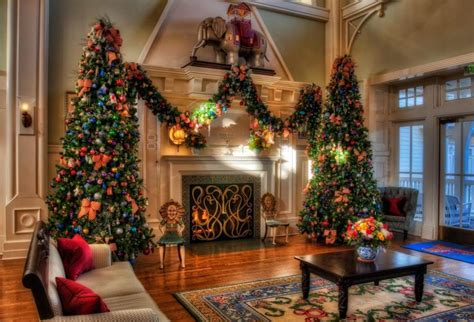 home interior christmas decorations christmas trees holiday decorations fireplace home