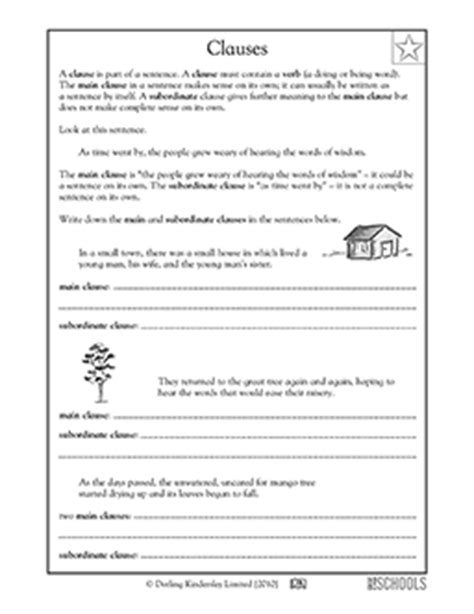 Free printable 4th grade writing Worksheets, word lists