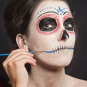 Halloween Make Up Puppe : d a de los muertos make up schminkanleitung f r halloween ~ Frokenaadalensverden.com Haus und Dekorationen