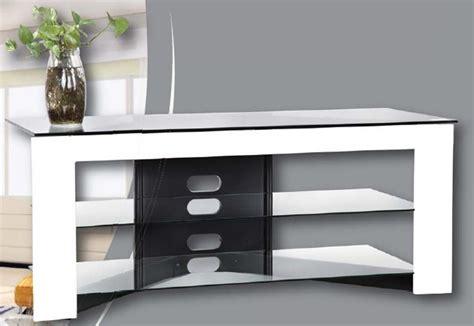porta tv cristallo mobile porta televisore moderno in legno e cristallo trix