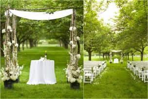 simple wedding ceremony simple outdoor wedding
