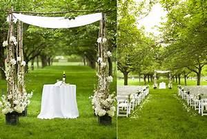 simple outdoor wedding With outdoor wedding ceremony decorations