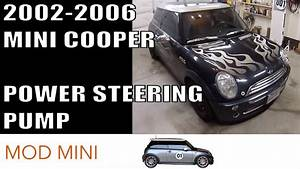 Mini Cooper Replace Power Steering Pump Howto