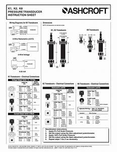 K1  K2  K8 Pressure Transducer Instruction Sheet  K8