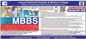 liaquat national medical college admission 2017 18 With college admission requirements