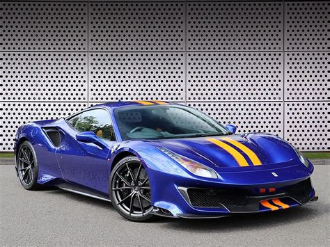 Ferrari is once again having a great year so far with sales numbers exceeding the already successful 2017. Used 2019 Blue Ferrari 488 Pista for sale   PistonHeads
