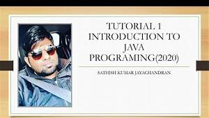 Tutorial, 1, Introduction, To, Java, Programming