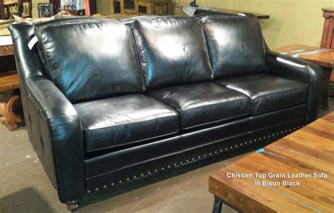 who makes the best leather sofas chisolm top grain leather sofa in bison black made in usa