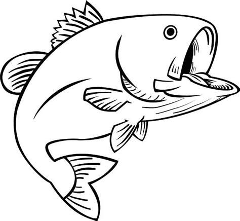 Fishing Fun Bass Fish Coloring Pages