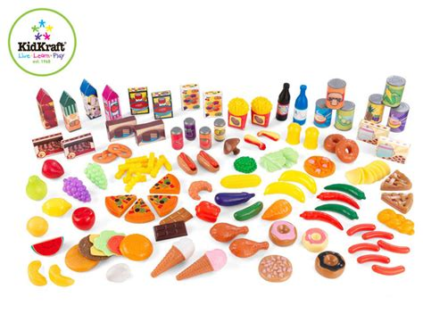 Living Room Table Sets Amazon by Kids Furniture Tasty Treats 125 Piece Play Food Set From