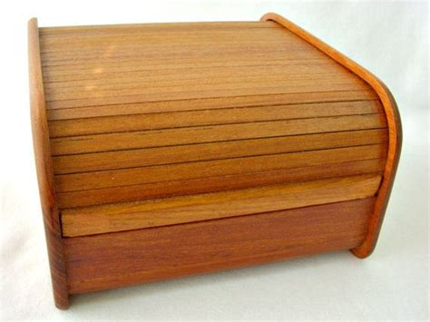 danish desk in a box mid century teak wood roll top desk organizer tambour