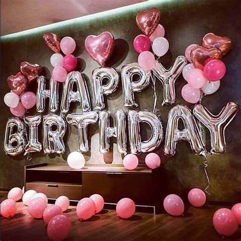 Happy birthday decoration/ foil balloon set of 1/birthday party supplies. Silver Letters Happy Birthday Balloons Foil Birthday Party Decoration Kids Adult Balloon ...