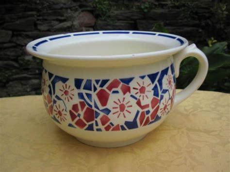 vase de nuit ou pot de chambre ancien en badonviller jardini 232 re sarreguemines digoin