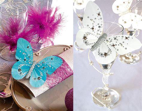 papillons decoration pince perles paillettes theme papillon