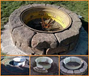 Diy Backyard Fire Pit Tractor Tire Fire Pit Inspiration