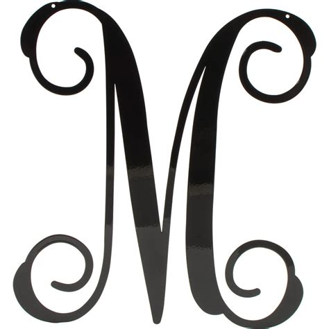 black vine script metal letter