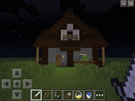 minecraft pe small medieval house  steps instructables
