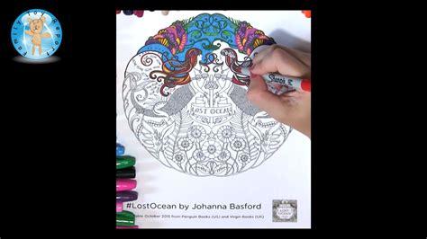 lost ocean  johanna basford adult coloring book mermaids