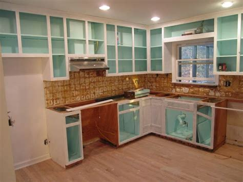 do you paint the inside of kitchen cabinets paint inside of cabinets bright color kitchen ideas 9952