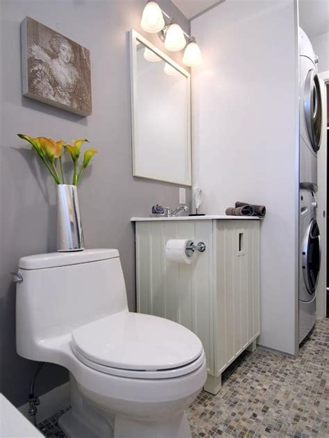 Bathroom Design With Washer And Dryer by Small Bathroom Designs With Washing Machine Transitional