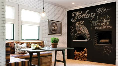 chalkboard accents  dining room spaces bill house plans