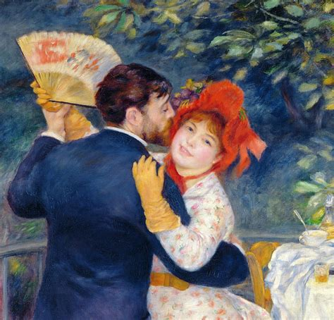 A Dance In The Country Painting By Pierre Auguste Renoir