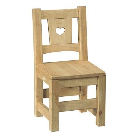 chaise en pin non chaise enfant en pin brut prt peindre avec coeu