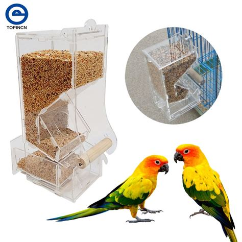 Parrot Feeder by Automatic Bird Feeder Pet Bird Cage Feeder Food Container