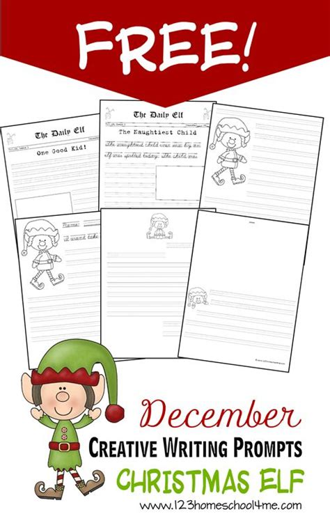 creative writing  christmas elf writing pages kids