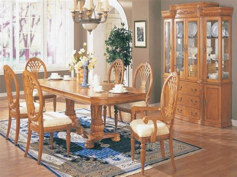 dining table hutch solid oak dining room set light oak
